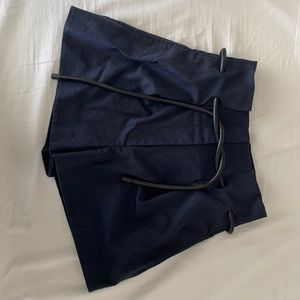 3.1 phillip lim origami pleated shorts navy